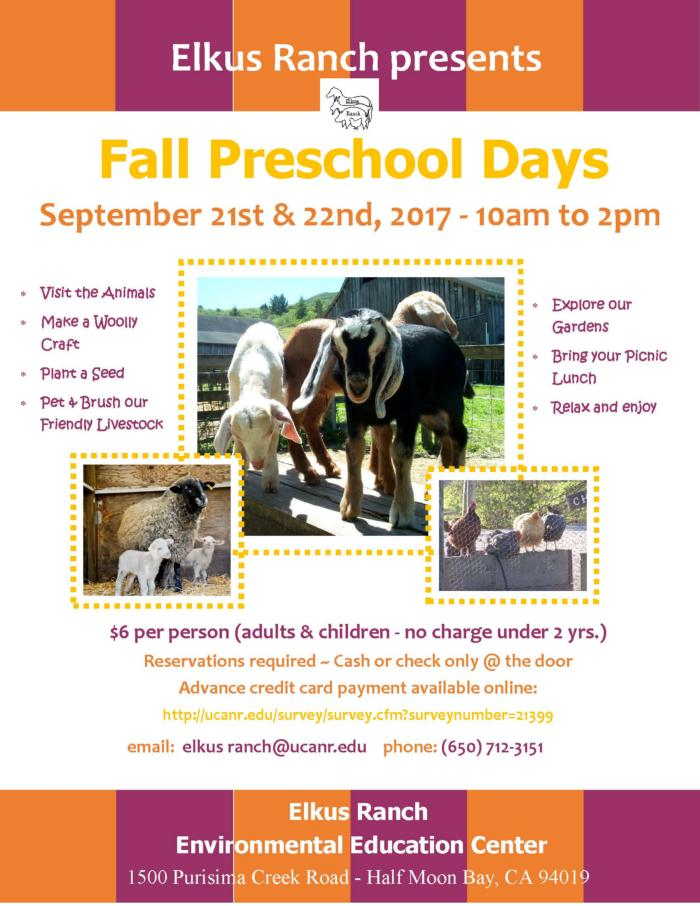 Elkus Fall PreSchool Days 2017 revsd